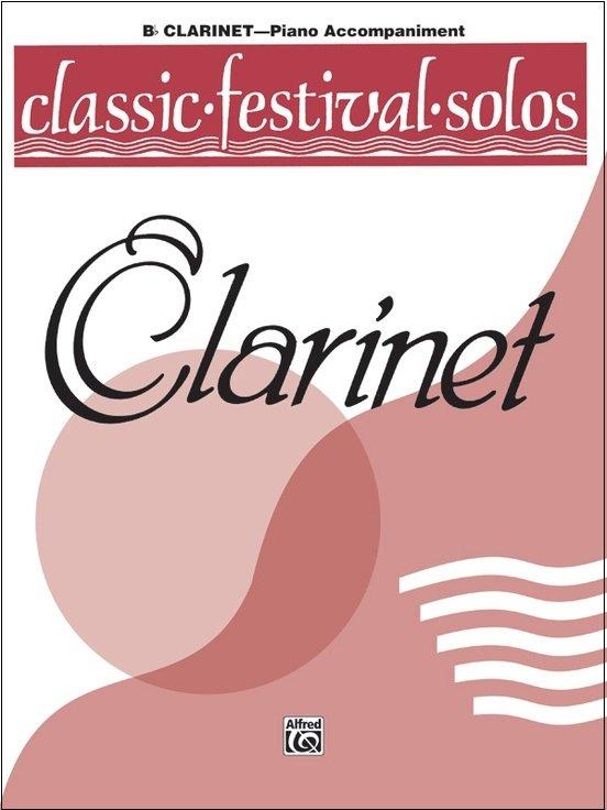 Classic Festival Solos for Clarinet Volume 1 - Piano Accompaniment Book