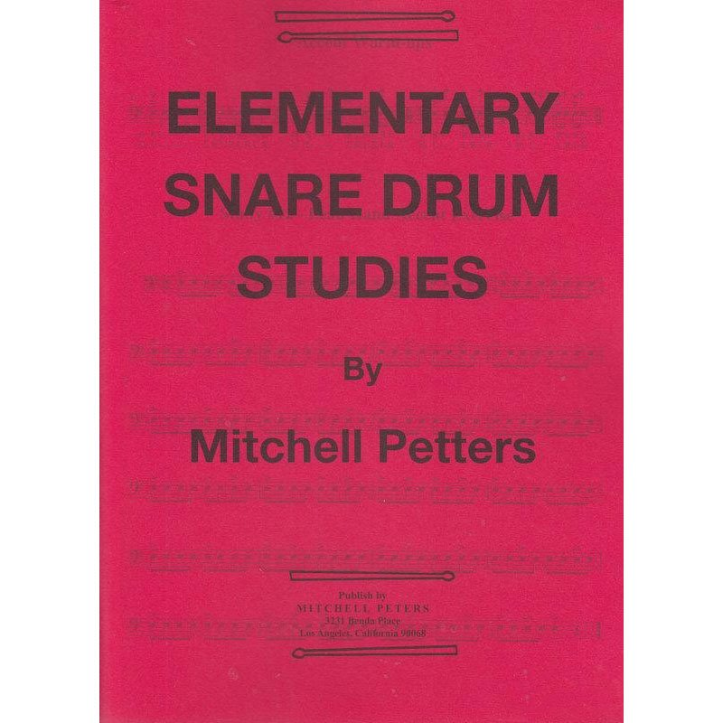 Peters, Mitchell: Elementary Snare Drum Studies