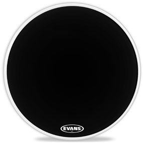 Evans MX2 Black 18-inch Marching Bass Drumhead