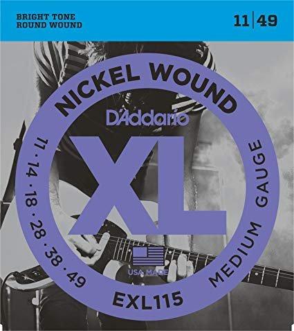D'Addario XL Medium Gauge Guitar Strings