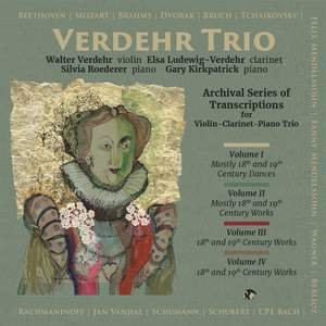 Verdehr Trio Archival Series of Transcriptions CD