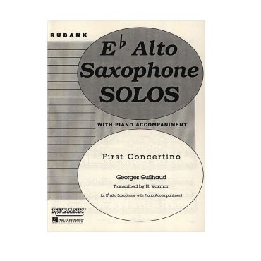 Guilhaud, Georges (trans. Voxman): First Concertino for Alto Saxophone & Piano