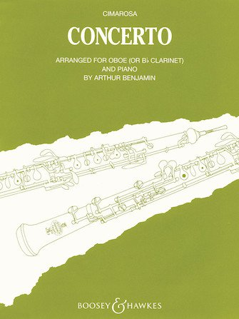 Cimarosa, Domenico (arr. Benjamin): Concerto for Oboe & Piano