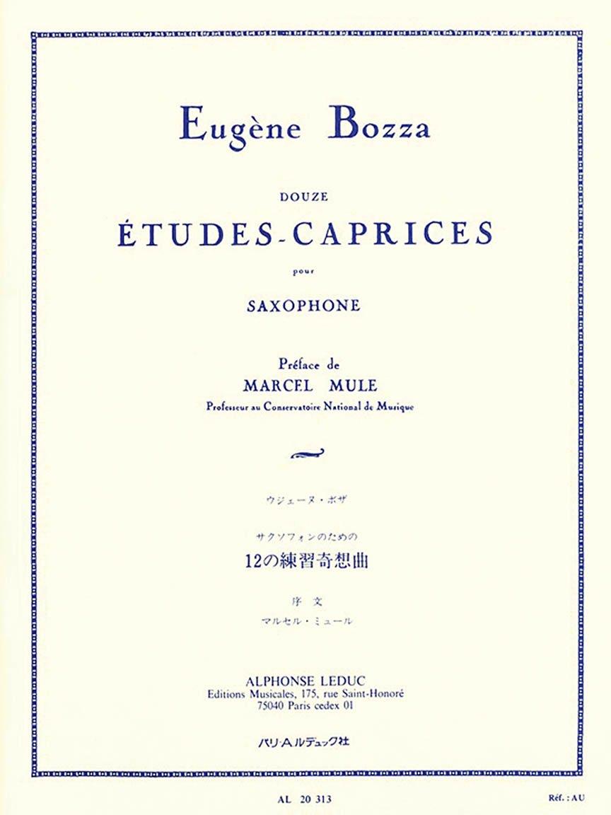 Bozza, Eugune: Douze Etudes-Caprices for Saxophone