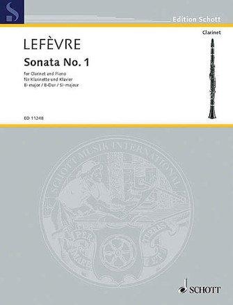 Lefevre, Jean Xavier: Sonata No. 1 for Clarinet & Piano