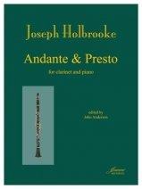 Holbrooke, Joseph: Andante & Presto for Clarinet & Piano