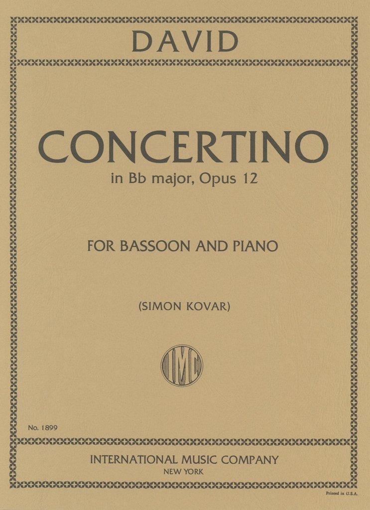 David, Ferdinand: Concertino in Bb major, Op. 12 for Bassoon & Piano
