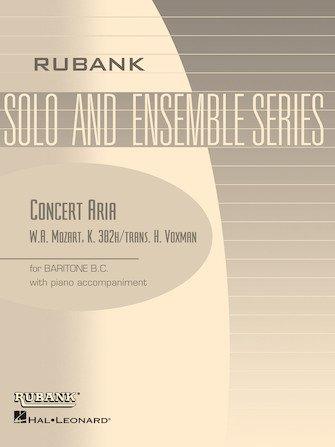 Mozart, W.A. (trans. Voxman): Concert Aria for Baritone & Piano