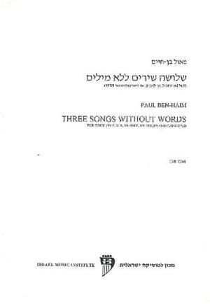 Ben-Haim, Paul: Pastorale Variee for Clarinet & Piano