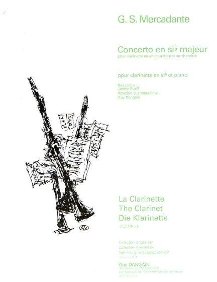 Mercadante, Saverio: Concerto in Eb Major for Clarinet & Orchestra