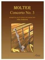 Molter, Johann Melchoir (arr. Anderson): Concerto No. 3 for Eb Clarinet & Clarinet Choir