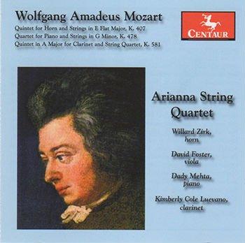 Arianna String Quartet Wolfgang Amadeus Mozart CD