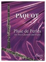 Paquot, Philippe: Pluie de Perles for Two Clarinet & Piano