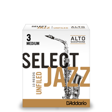 D'Addario Select Jazz Unfiled Saxophone Reeds