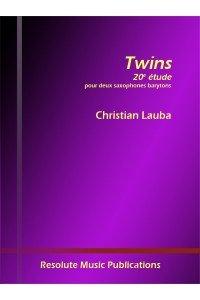 Lauba, Christian: Twins - 20th Etude for 2 Baritone Saxophones