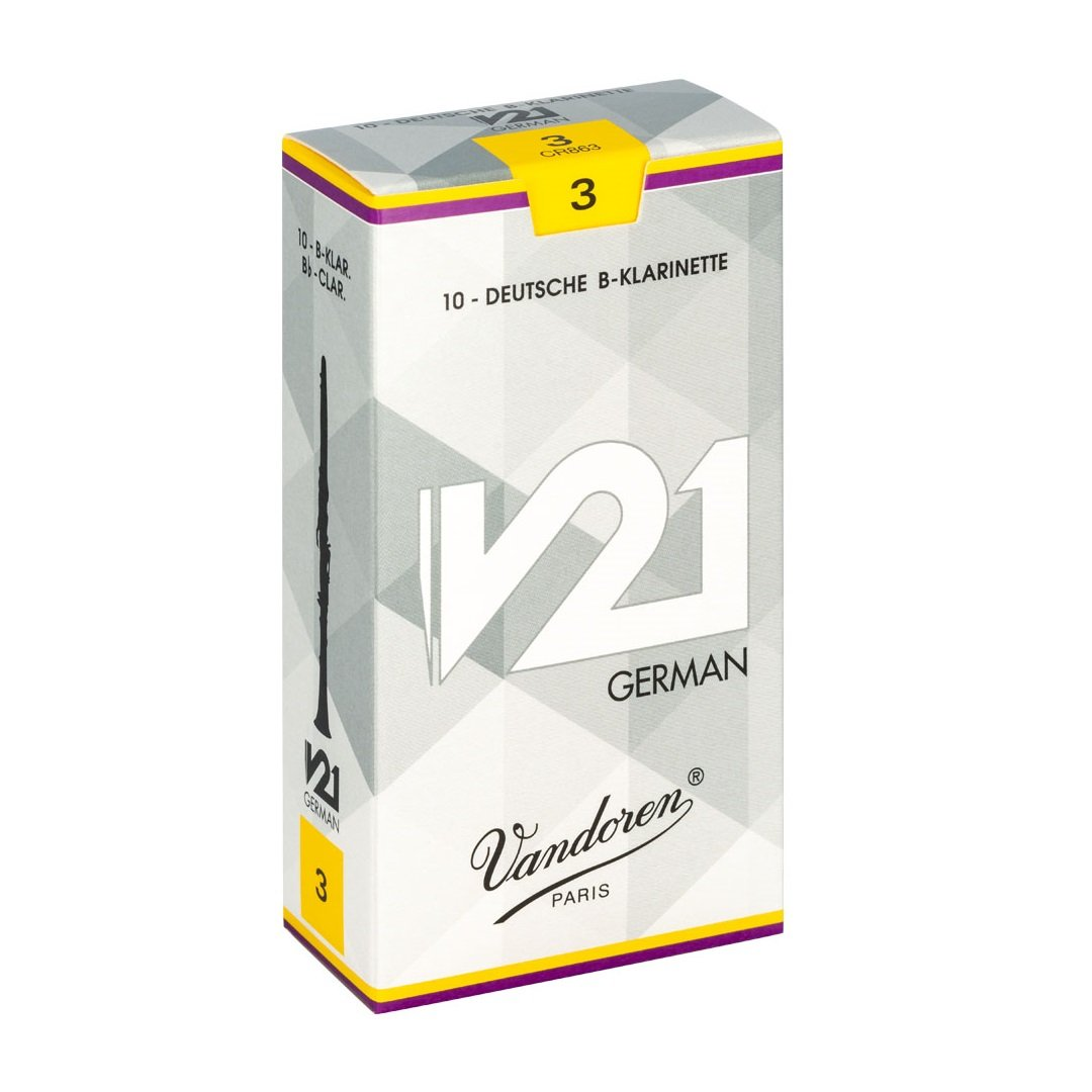 Vandoren V21 German Cut Bb Clarinet Reeds