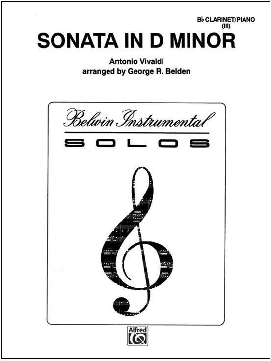 Vivaldi, Antonio (arr. Belden): Sonata in d minor for Bb Clarinet & Piano