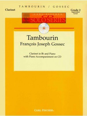 Gossec, Francois Joseph: Tambourin for Clarinet & Piano