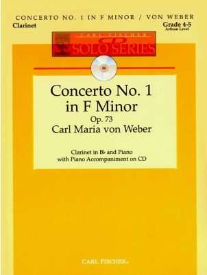 Weber, C.M.: Concerto No. 1 in F minor Op. 73 for Clarinet & Piano