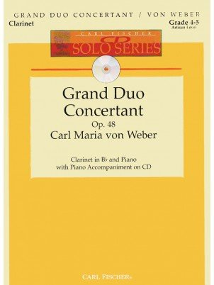 Weber, C.M.: Grand Duo Concertant in Eb Major, Op. 48 for Clarinet & Piano