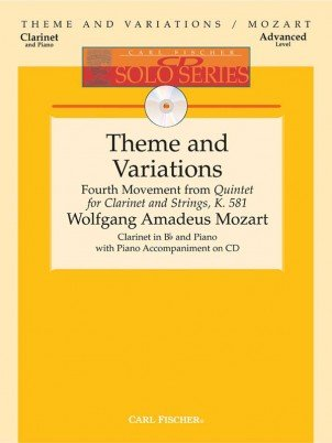 Mozart, W.A.: Theme & Variations from Quintet for Clarinet & Strings K. 581 for Clarinet & Piano