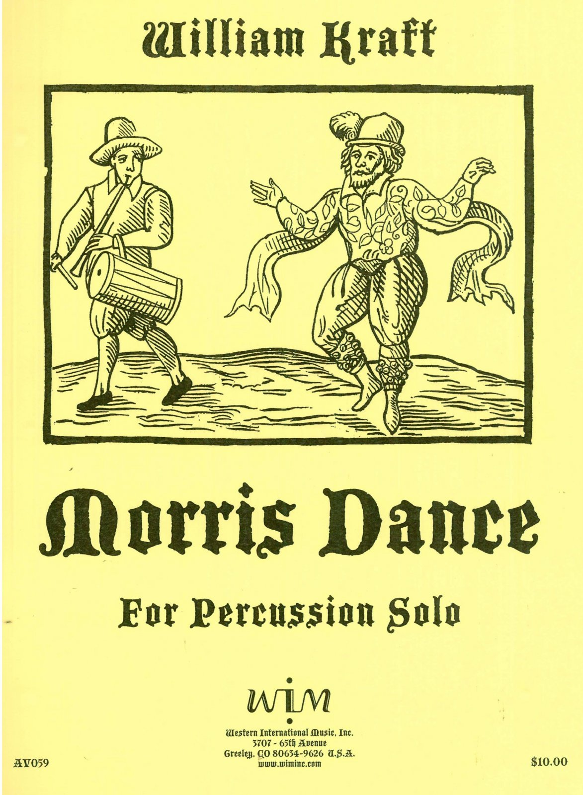 Kraft, William: Morris Dance for Percussion Solo
