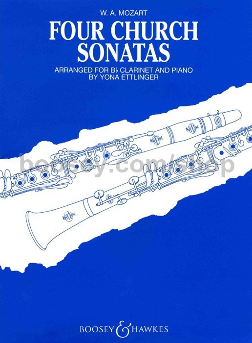 Mozart, W.A.: Four Church Sonatas for Clarinet & Piano