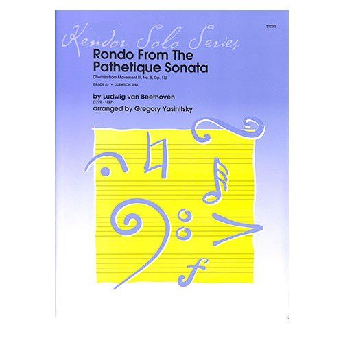 Beethoven, L.v. (Yasinitsky): Rondo from the Pathetique Sonata for Bb Clarinet & Piano