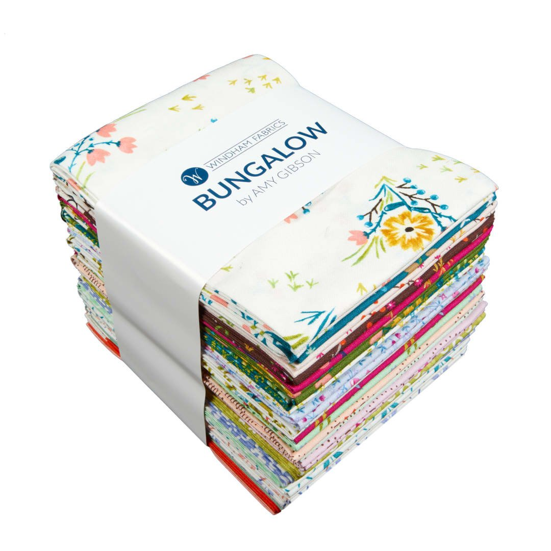 Bungalow Fat Quarter bundle by Amy Gibson and Windham Fabrics