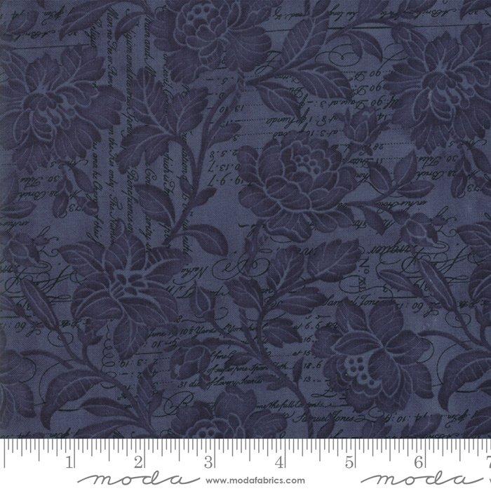 11158-18 Memoirs Indigo 108 Moda, navy, blue floral