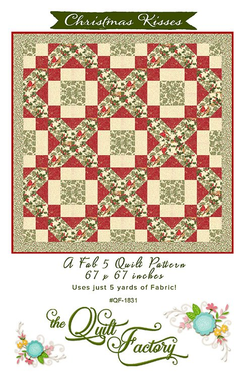 Christmas Kisses Kit with BACKING fabric from the Cardinal Song Collection from Moda