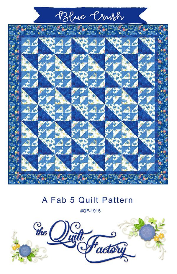 Blue Crush Pattern Fab 5 by Moda