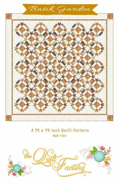 Batik Garden 93 x 93 Quilt Kit 11Yards of Fabric