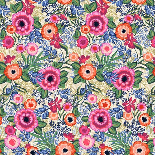 Marisol 1220-22 Large Floral By Blank Fabric