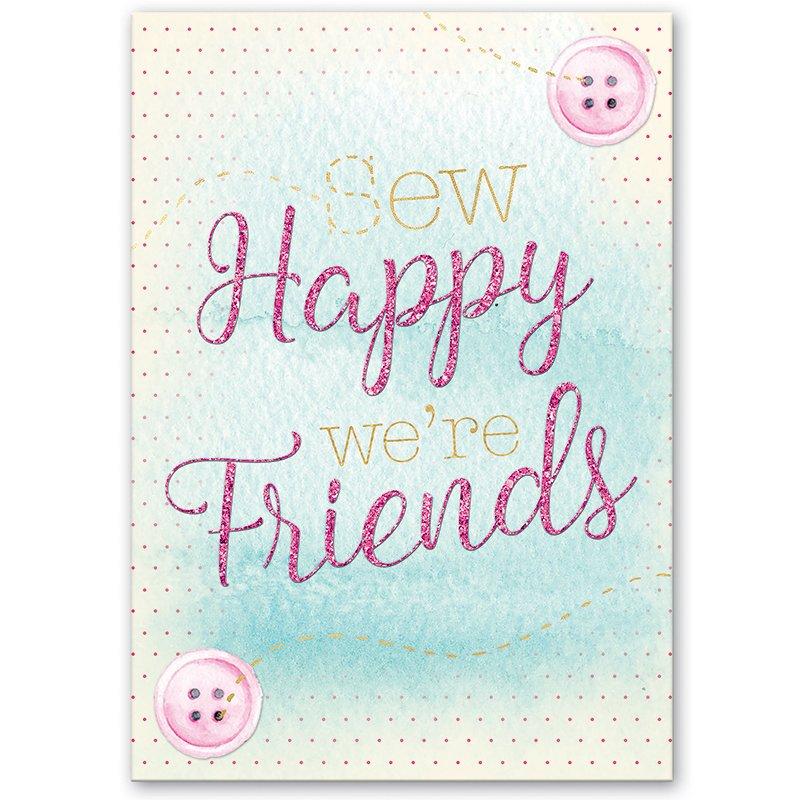 Greeting Card Sew Happy Friend