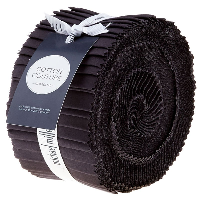 Michael Miller Charcoal Jelly Roll 40 pcs