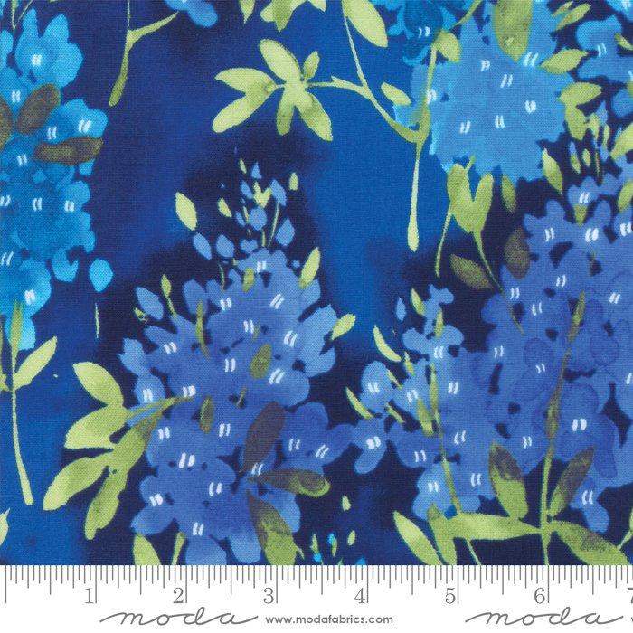Fields of Blue Ivory 33450 15 Bluebonnet Moda