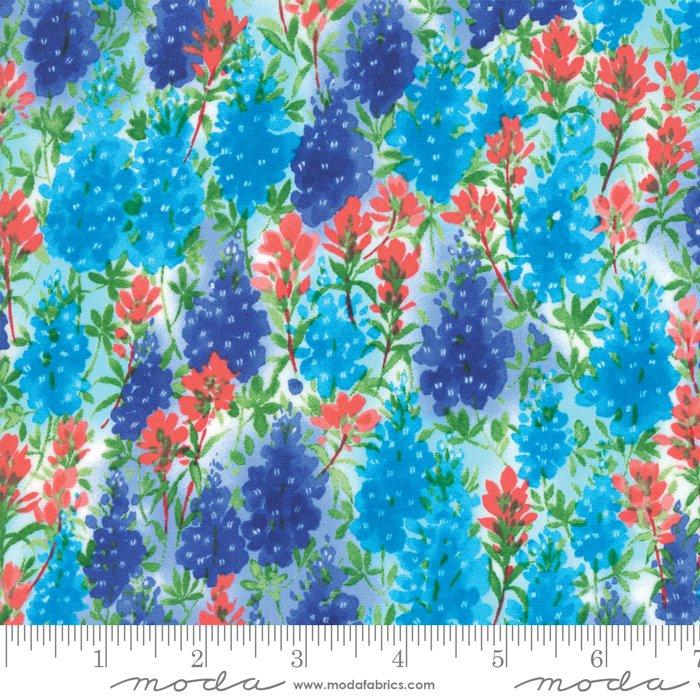 Fields of Blue Ivory 33451 12 Bluebonnet by Moda
