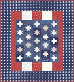 Kit 14890  Mackinac Island By Moda, red white and blue