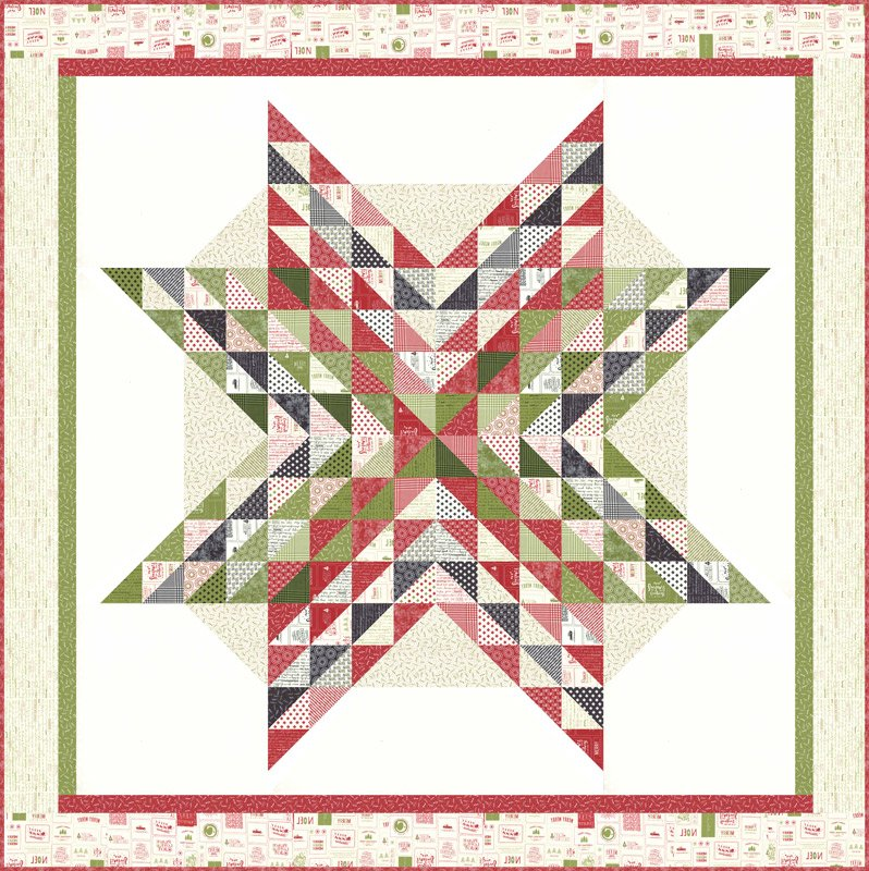 The Christmas Card Quilt Kit, 72 x 72'