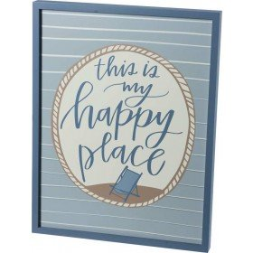 My Happy Place Inset Box Sign 39985