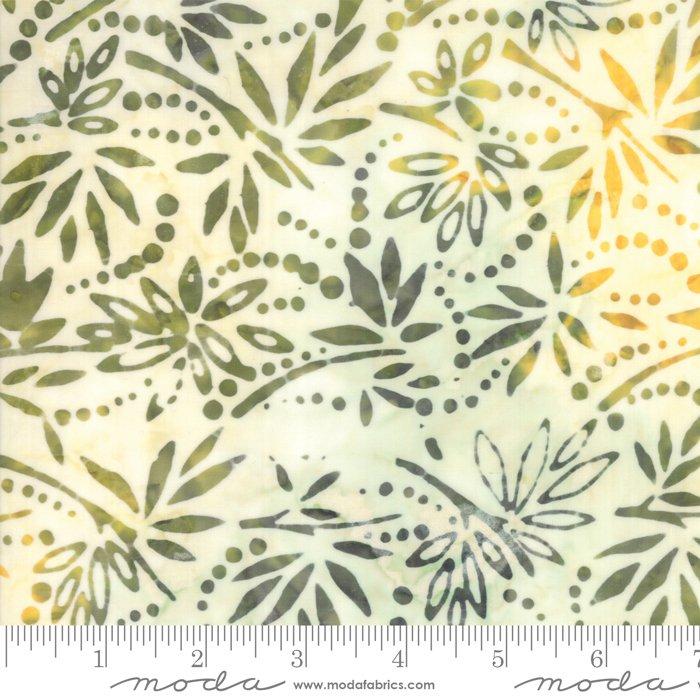 Moda 4352 31 Bahama Frond Batiks , green tan brown