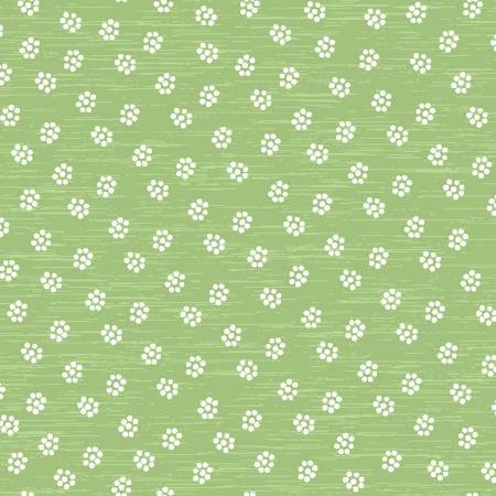 51514-7 Green Ditsy Daisy, A Stitch in Time collection