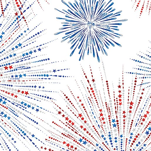 Fireworks Shimmer White, Star Spangled Collection
