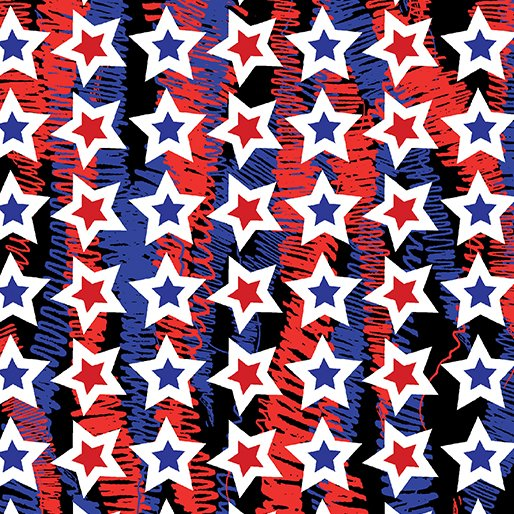 Confetti Stars Red, Star Spangled Collection    red  and blue