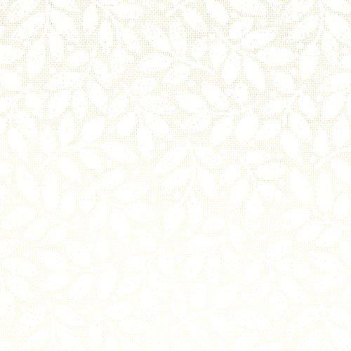 9939-13 Muslin Mates Leaves white on white