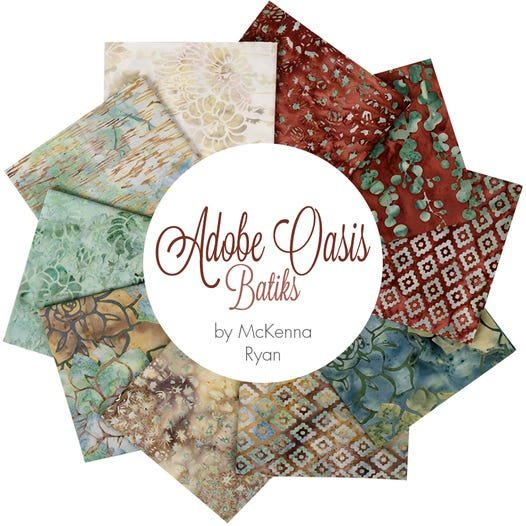 FQ Bundle Adobe Collection 12 Fat Quarters, teal, maroon, tan, brown,