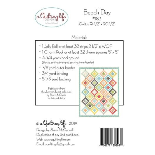 Beach Day Jelly Roll & Charm Pack Quilt pattern