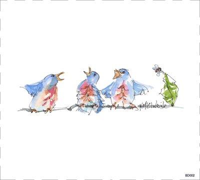 BD002 Chorus of Birds Quilt block 9 x 10