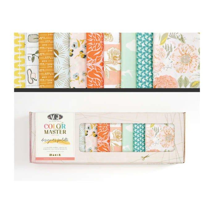 Bonnie Christine FQ Box, B-DFQ202  orange, peach, and teal